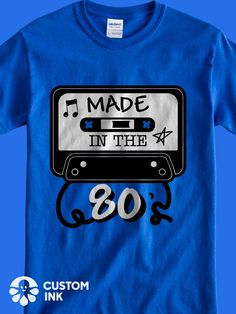 9ceaf1decf Made in the 80s is the perfect funny saying design idea for a custom  birthday party