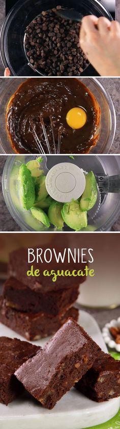 Deliciosos Brownies con aguacate y sustituto de azúcar que podrás comer si estás a dieta