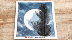 Girl and Moonlight   Acrylic Painting   Easy Art   Joy of Art #186 Easy Art, Simple Art, Painting Tutorials, Moonlight, Painting & Drawing, Tube, Joy, Drawings, Glee