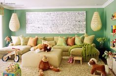 Dream Home Sweet Home / Kid friendly living room/play room