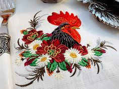 Machine Embroidery Design Rooster in a thicket от RoyalPresentEmb