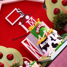 Farm themed party cake