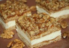 Honey slices with walnut grill recipe The post Honey slices with walnut grill recipe appeared first on Dessert Platinum. Nutella Drink, Desserts Nutella, No Cook Desserts, Czech Recipes, Russian Recipes, Sweet Recipes, Cake Recipes, Cake & Co, Cuisine