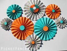 Hey, I found this really awesome Etsy listing at https://www.etsy.com/listing/217722134/orange-and-teal-paper-rosettes-paper