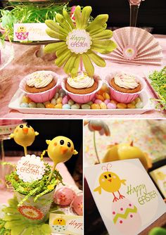 """little chic"" baby shower.  Great for Spring!"