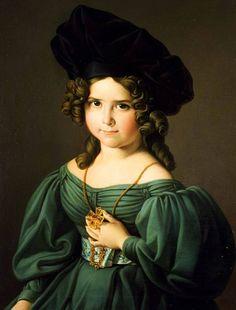 Zacarias González Velázquez. Portrait de Mathilde Cobos, 1832.