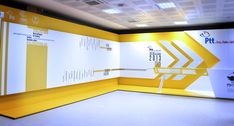 exhibition space designing for ptt on Behance Office Wall Design, Office Interior Design, Office Interiors, Graphisches Design, Display Design, Store Design, Design Ideas, Environmental Graphic Design, Environmental Graphics