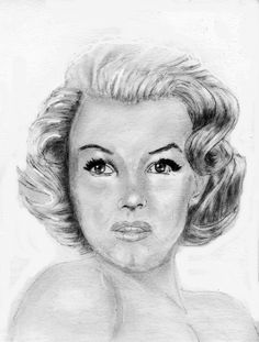 Marilyn Monroe by ultrason  | This image first pinned to Marilyn Monroe Art board, here: http://pinterest.com/fairbanksgrafix/marilyn-monroe-art/ || #Art #MarilynMonroe http://mostviewsvideo.com/charcoal-drawing-of-marilyn-monroe.html