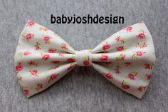 Floral Tea Rose Vanilla Fabric Hair bow for teens or women,girls hair bows,basic hair bows , Hair Bows