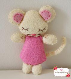 Sew a Felt Christmas Mouse...