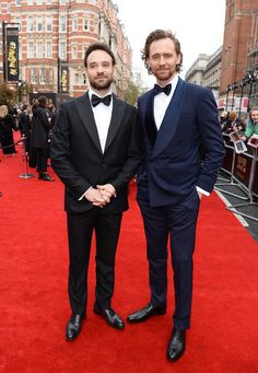 Charlie Cox and Tom Hiddleston.Olivier Awards. April 7, 2019.Click on the image for more. Tom Hiddleston Funny Tumblr, Tom Hiddleston Loki, Daredevil Funny, Loki Avengers, Out Of The Closet, Royal Albert Hall, April 7, Thomas William Hiddleston, Lets Dance