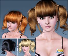 Emma's Simposium: Free Hair Pack #203 By PeggyZone - Donated/Gifted ...