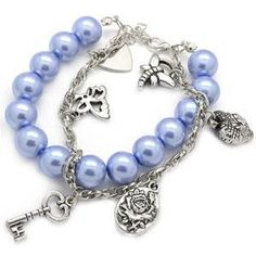 Debs Jewelry Shop - Paparazzi Bracelet - Blue Bead Bracelet with Silver Charms, $5.00 (http://www.debsjewelryshop.com/paparazzi-bracelet-blue-bead-bracelet-with-silver-charms/)