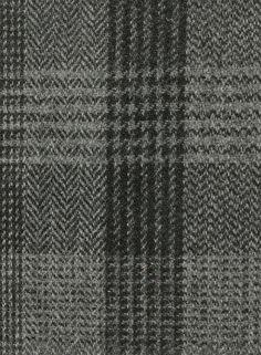 Harris Tweed Hebrides Cloth : BA47-D2 cloth is a grey and black check.