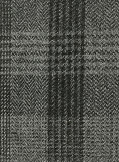 Harris Tweed Hebrides Cloth : BA47-D2 cloth is a grey and black check.