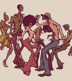 Soul Flow by Satoshi Matsuzawa Sexy Black Art, Black Love Art, Black Girl Art, Art Girl, African American Artwork, African Art, Illustrations, Illustration Art, Black Art Pictures