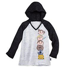 Star Wars ''Tsum Tsum'' Hooded Baseball Tee for Juniors Baseball Tees For Women, T Shirts For Women, Star Wars Hoodie, Cool Shirt Designs, Order T Shirts, Disney Merchandise, Star Fashion, Disney Fashion, Personalized T Shirts