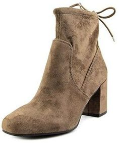 Franco Sarto Pisces Women Square Toe Synthetic Brown Ankle Boot.