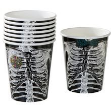 Talking Tables Skeleton Crew Paper Cups for a Halloween party, Multicolor Pack) Halloween Cups, Halloween Kitchen, Halloween Skeletons, Halloween Party Decor, Halloween Office, Halloween 2018, Halloween House, Fall Halloween, Halloween Ideas