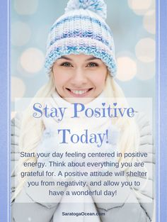 Try to center yourself in the morning in positive energy by thinking about what you are grateful for. Think about something that you can look forward to today. Then decide to maintain a positive attitude throughout the day, no matter what comes your way. Your positive energy will shield you from negativity, and allow you to have an awesome day! <3
