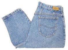 87a39f6d Vintage Lee Riders 80s 90s High Waist Mom Jeans W34 L29 Womens USA Made United  Garment