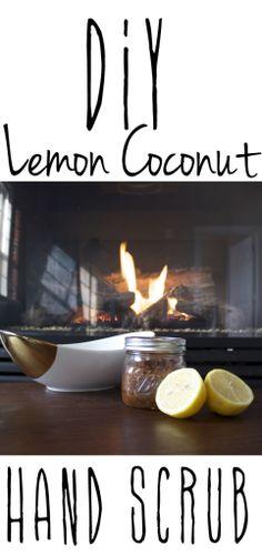 DIY lemon coconut hand scrub