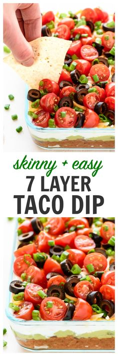 The BEST Classic 7 Layer Dip, made better with simple, fresh ingredients. Colorful, delicious, and the perfect appetizer recipe for any party! | www.wellplated.com