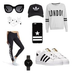"""""""Untitled #79"""" by raquel-june ❤ liked on Polyvore featuring beauty, ONLY, adidas Originals, adidas, Givenchy, Karen Walker and I Love Ugly"""