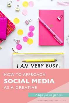 How to approach social media as a creative. Click through to read our 7 tips for beginners.