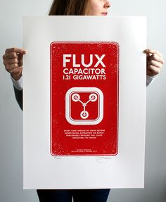 Back to the Future 'Flux Capacitor' Hand Pulled Limited Edition Screen print by Barry D Bulsara