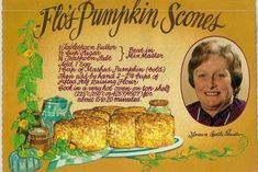 Lady Flo's Perfect Pumpkin Scone Recipe - High Tea Society Tea Recipes, Pumpkin Recipes, Sweet Recipes, Baking Recipes, Cake Recipes, Recipies, Welsh Recipes, Pumpkin Scones, Pumpkin Bread
