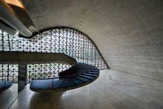 concerts, sculptures, interior, stairs, latin america, modern architecture, oscar niemeyerrip, stairwells, sottsass staircas