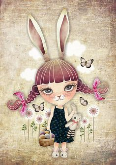 """Sugar Bunny"" by sandygrafik 