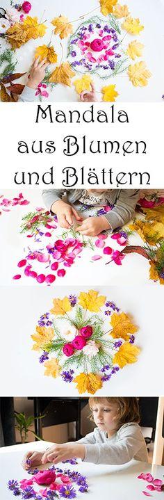 Basteln im Herbst mit Kindern mit Naturmaterialien