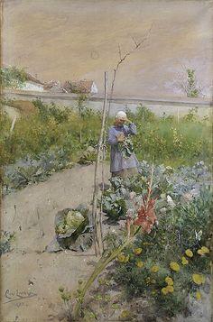 CARL LARSSON In the Kitchen Garden (1883)