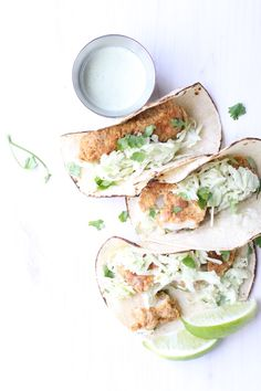 Cornmeal-crusted and baked to perfection, these crispy fish tacos satisfy a craving for crunchy fish tacos with all the flavor - no deep frying needed!