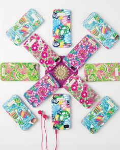 Lilly Pulitzer phone case. I like the inner 4 and the green and pink one! :)