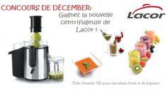 Concours de Dècember : Gagnez la nouvelle centrifugeuse de Lacor !