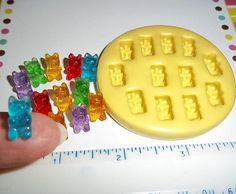 Gummy Bear Flexible Mold Mould For Resin Paper Clay Sculpey Fimo Polymer Fondant Wax Chocolate Food Safe Polymer Clay Miniatures, Polymer Clay Charms, Homemade Gummy Bears, Food Mold, American Girl Diy, Diy Jewelry Inspiration, Clay Food, Paper Clay, Cake Mold