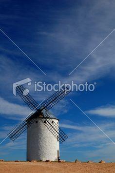 Historical Spanish windmill Royalty Free Stock Photo