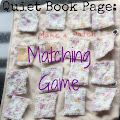 Quiet Book Page: Memory Game - great for travelling