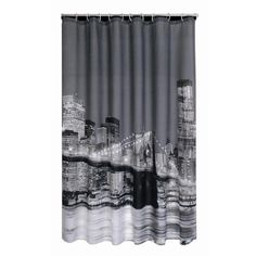Modern City Night Scene Waterproof Shower Curtain Bathroom Products Polyester Bath Curtain 180x180CM