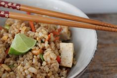 End Summer with a Kung Pao Rice Salad with Tofu — Ferns & Peonies Cooking Tofu, Cooking Salmon, Salad Recipes, Vegan Recipes, Cooking Recipes, Vegan Foods, Cheese Recipes, Peanut Butter Soup, Raw Carrot Cakes