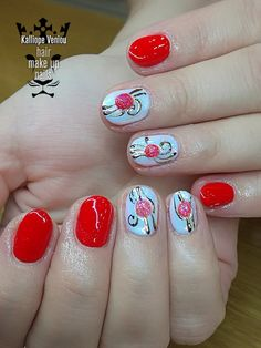Red nails  #nails💅 #nailart #rednails #foilmanicure #gelstones #mermaidnails #elegance #salonforlady #naildecor #nailartists #nailprodigy #nailaholics #nailsoftheday #fotooftheday📷💕 #trustthexperts #beautymakesmehappy   www.kalliopeveniou.gr