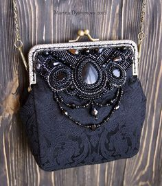 Bead Embroidered Purse