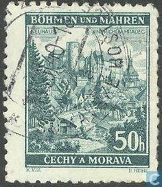 Timbres-poste - Bohême et Moravie - Bâtiments Rare Stamps, Personalized Items, Castles, Stamps