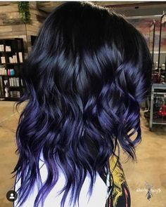 Ombre Hair Color Trends - Is The Silver Style Blue Hair Black Girl, Blue Purple Hair, Hair Color Blue, Cool Hair Color, Pastel Blue, Pastel Hair, Red Velvet Hair Color, Blue Dip Dye Hair, Purple Hair Tips