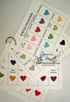 New color qrt sheet charts
