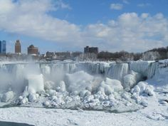 The Internet is buzzing this week with dramatic photos of what appears to be Niagara Falls completely frozen over. Niagara Falls almost frozen over. Niagara Falls Frozen, Niagara Falls Pictures, Westminster, Alaska, Voyage Canada, American Falls, Stations De Ski, Walter Mitty, Les Cascades