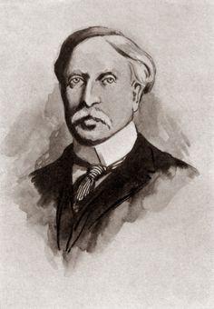 Portrait of Victorian novelist George Moore